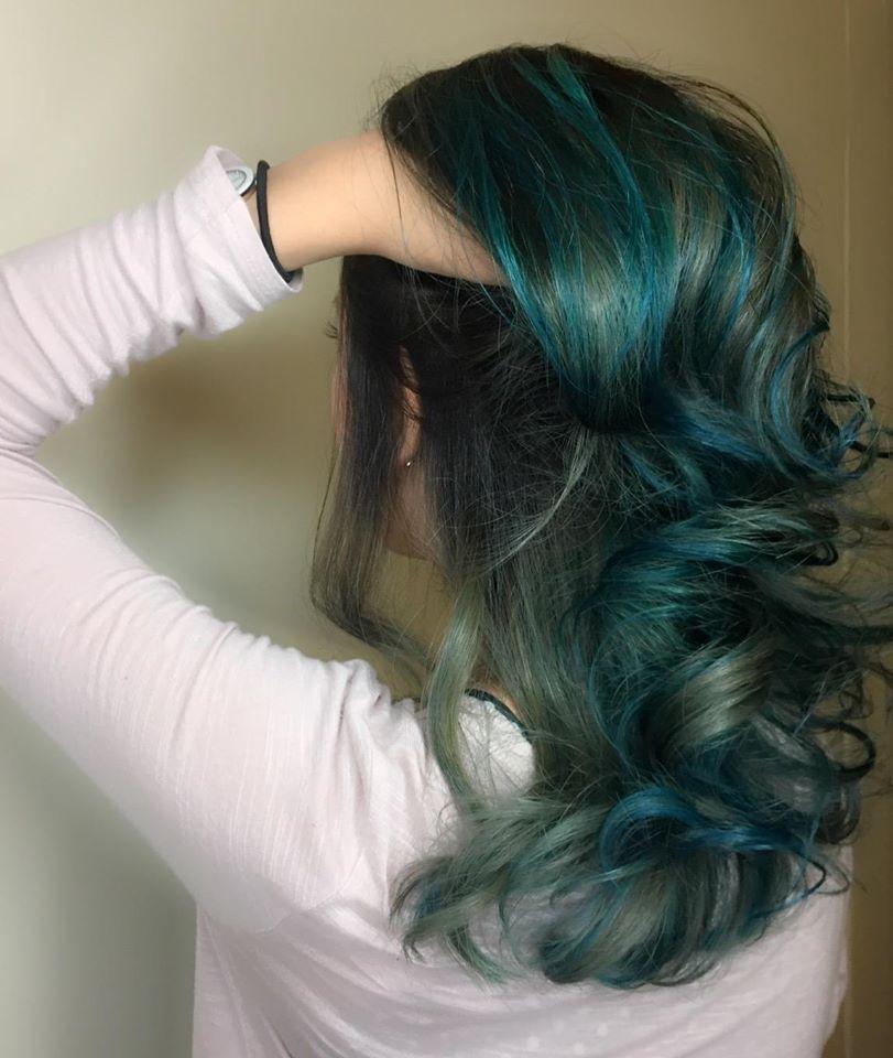 Galaxy Green Hair Colour