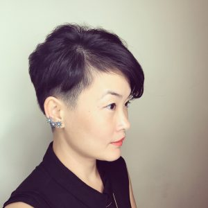 two-block hair style for woman